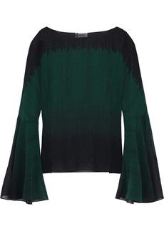 Lanvin Woman Printed Silk-georgette Blouse Dark Green