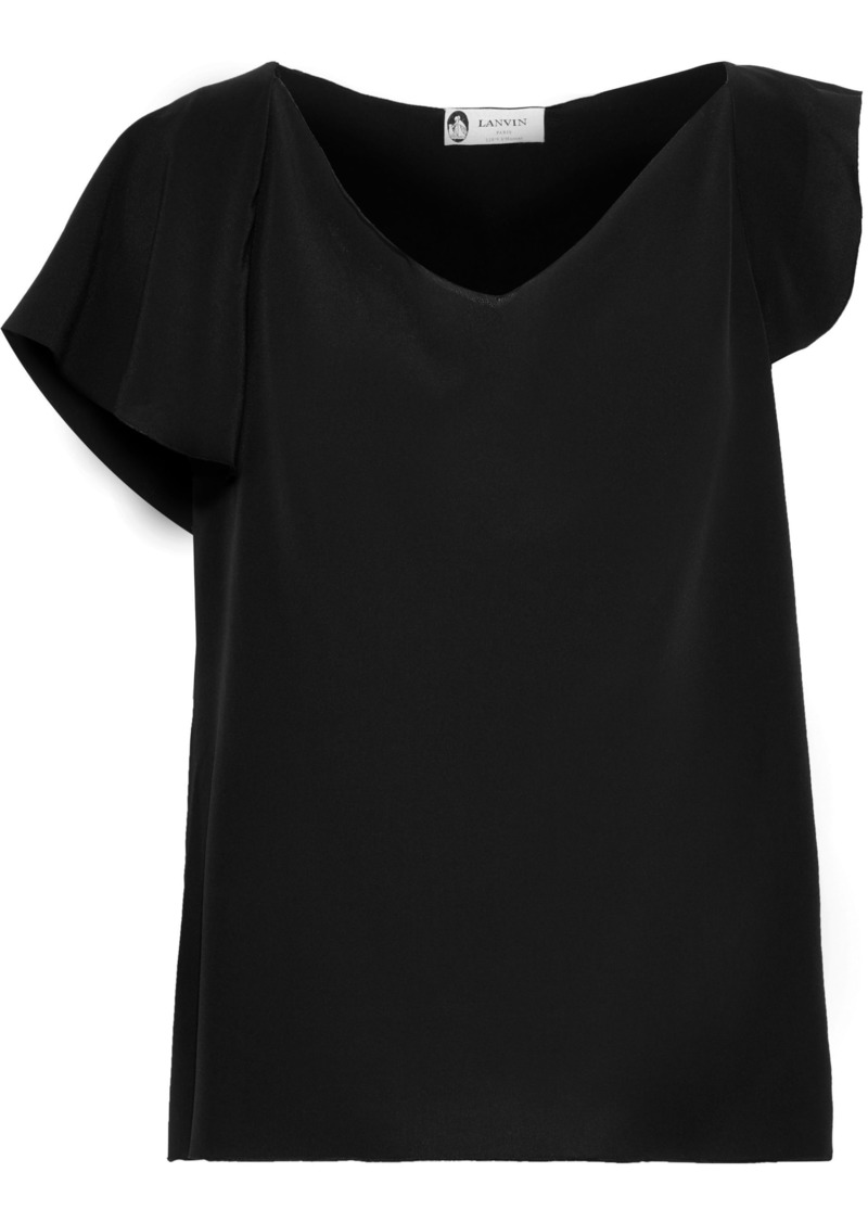Lanvin Woman Silk Crepe De Chine Top Black