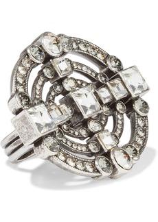 Lanvin Woman Silver-tone Crystal Ring Silver