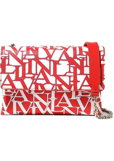 Lanvin Woman Small Sugar Logo-print Leather Shoulder Bag Red