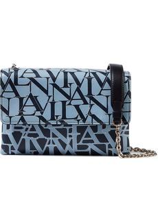 Lanvin Woman Small Sugar Printed Leather Shoulder Bag Light Blue
