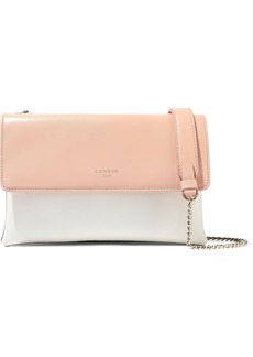 Lanvin Woman Sugar Mini Color-block Leather Shoulder Bag Blush