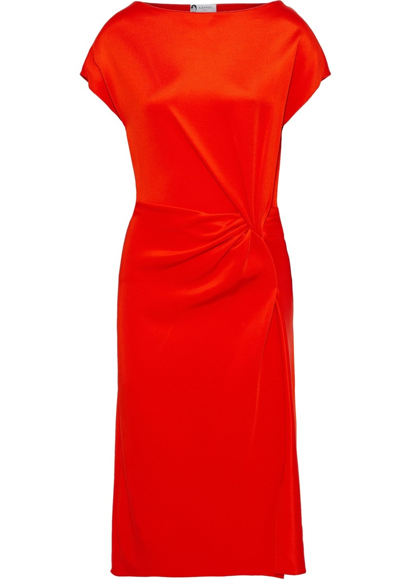 Lanvin Woman Twisted Stretch-knit Dress Bright Orange