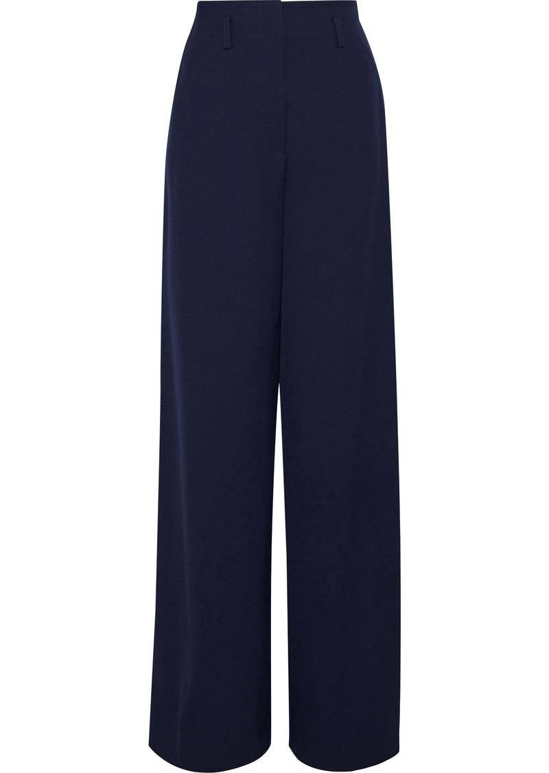Lanvin Woman Wool-twill Wide-leg Pants Navy