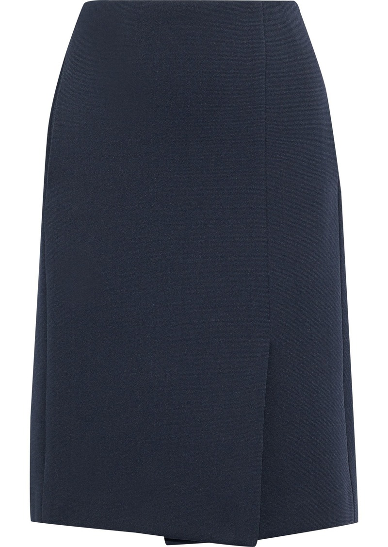 Lanvin Woman Wrap-effect Ponte Skirt Anthracite