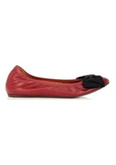 Lanvin Women's Bow-Embellished Leather Flats