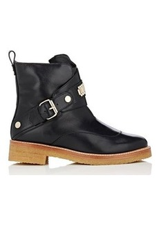 Lanvin Women's Bracelet-Inset Leather Ankle Boots