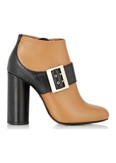 Lanvin Women's Buckled-Strap Booties-Tan Size 9.5