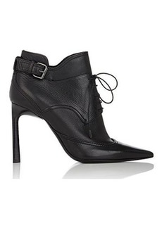 Lanvin Women's Buckled-Strap Leather Ankle Boots