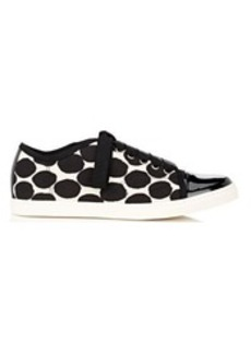 Lanvin Women's Cap-Toe Leather Sneakers