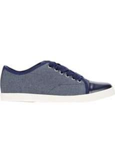 Lanvin Women's Cap-Toe Sneakers-NAVY Size 5