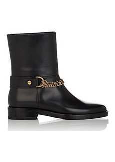 Lanvin Women's Chain-Strap Leather Moto Boots