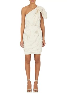 Lanvin Women's Embellished Linen-Cotton Cocktail Dress