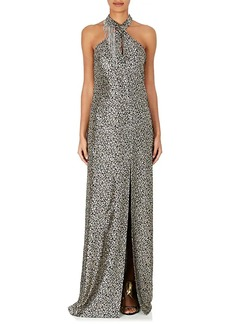 Lanvin Women's Embellished Silk-Blend Lamé Gown