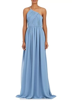 Lanvin Women's Embellished Silk Georgette One-Shoulder Gown