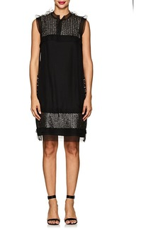Lanvin Women's Embellished Silk Organza Shift Dress