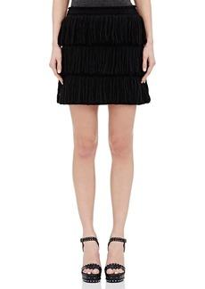Lanvin Women's Fringe-Layered Tweed Miniskirt
