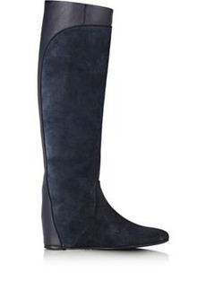 Lanvin Women's Hidden-Wedge Knee Boots