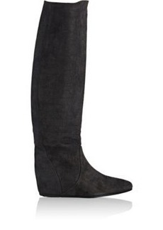 Lanvin Women's Hidden-Wedge Knee Boots-BLACK Size 9