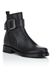 Lanvin Women's Leather Buckle Ankle Boots