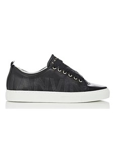 Lanvin Women's Logo-Perforated Leather Sneakers