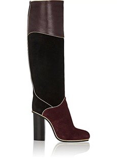 Lanvin Women's Piped Suede & Leather Knee Boots