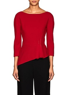 Lanvin Women's Pleated Wool Crepe Blouse