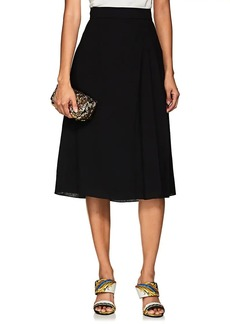 Lanvin Women's Pleated Wool Crepe Midi-Skirt