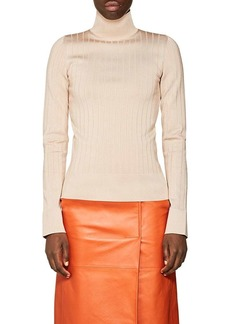 Lanvin Women's Rib-Knit Mock-Turtleneck Sweater