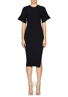 Lanvin Women's Rib-Knit Wool-Blend Midi-Dress
