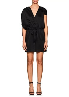 Lanvin Women's Rosette-Detailed Satin Romper