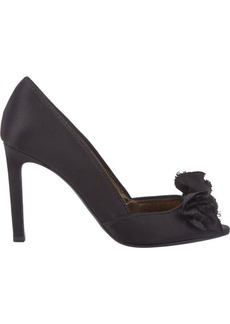 Lanvin Women's Satin Bow-Embellished Pumps-BLACK Size 6