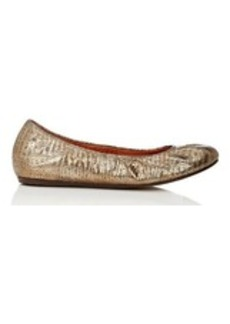 Lanvin Women's Stamped Leather Flats