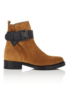Lanvin Women's Suede Buckle Ankle Boots