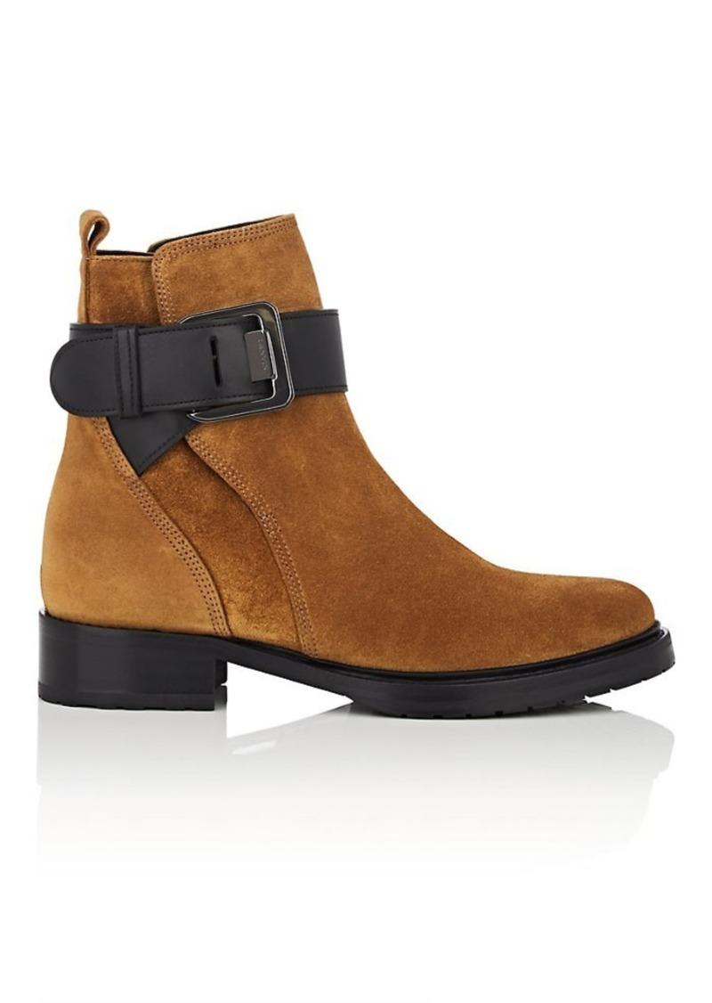 Lanvin Women's Suede Buckle Ankle Boots