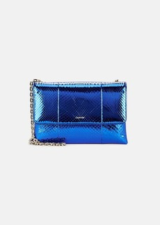 Lanvin Women's Sugar Small Python Shoulder Bag - Sapphire