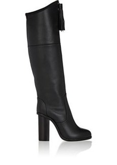 Lanvin Women's Tassel-Embellished Leather Knee Boots