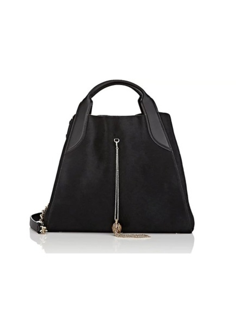 16978b37b8f Lanvin Lanvin Women's Trapeze Small Calf Hair Tote Bag - Black ...