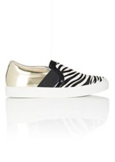 Lanvin Women's Zebra Haircalf & Leather Slip-On Sneakers