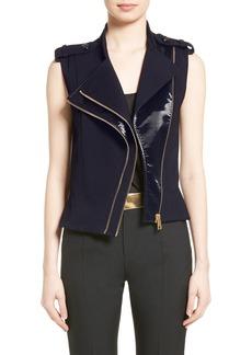 Lanvin Wool Moto Vest