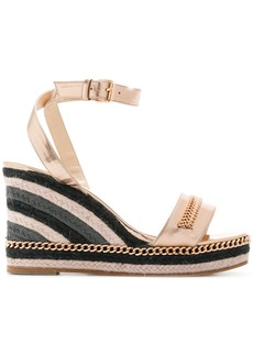 Lanvin woven chain trim wedges - Metallic