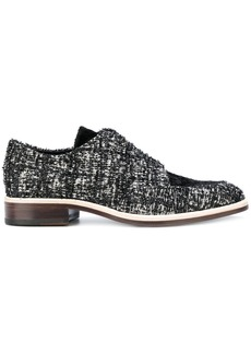 Lanvin woven lace-up shoes - Black