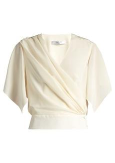 Lanvin Wrap-over silk top
