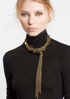 Lanvin Tight Knot Brass Necklace