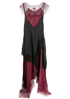 Lanvin layered lingerie-style asymmetric dress