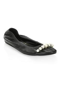 Lanvin Leather Ballet Flats