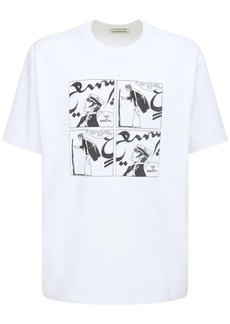 Lanvin Logo Cartoon Printed Cotton T-shirt