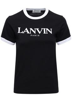 Lanvin Logo Cotton Jersey T-shirt