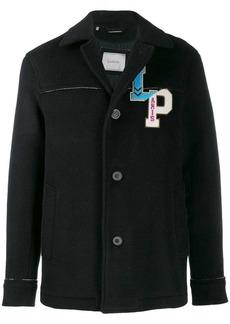 Lanvin logo embroidered coat