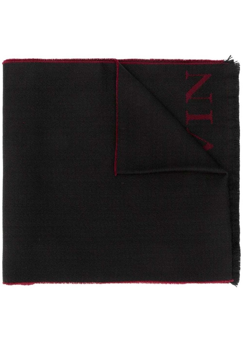 Lanvin logo knitted scarf
